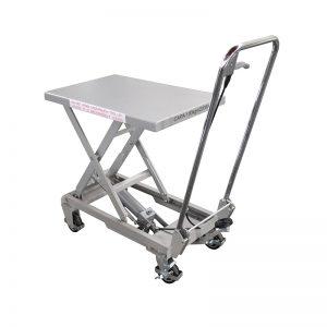 BSA10 Алюмінієвий / ручний ножичний підйомний стіл з нержавіючої сталі